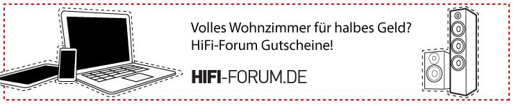 HiFi-Forum Gutscheine - volles Wohnzimmer für halbes Geld!