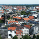 Blick über die Leine-Stadt