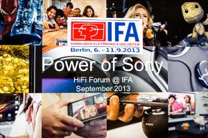HiFi-Forum Workshop auf dem Sony Stand auf der IFA 2013