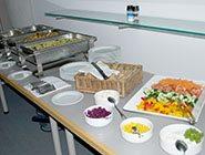 Mittagsbuffet während des Event im Sony Center